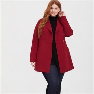 Torrid red a-line trench coat